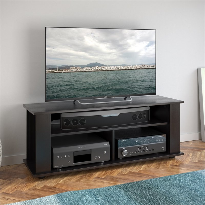 """Corliving Bakersfield Tv Stand In Ravenwood Black – For Intended For Lansing Tv Stands For Tvs Up To 55"""" (View 2 of 20)"""