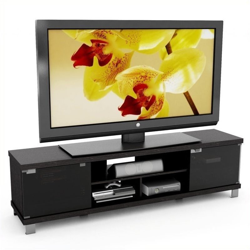 """Corliving Holland 71"""" Extra Wide Tv Stand In Ravenwood Intended For Orsen Wide Tv Stands (View 9 of 20)"""
