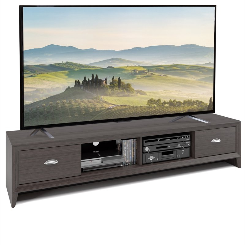 Corliving Lakewood Extra Wide Brown Wood Grain Tv Stand With Copen Wide Tv Stands (View 13 of 20)