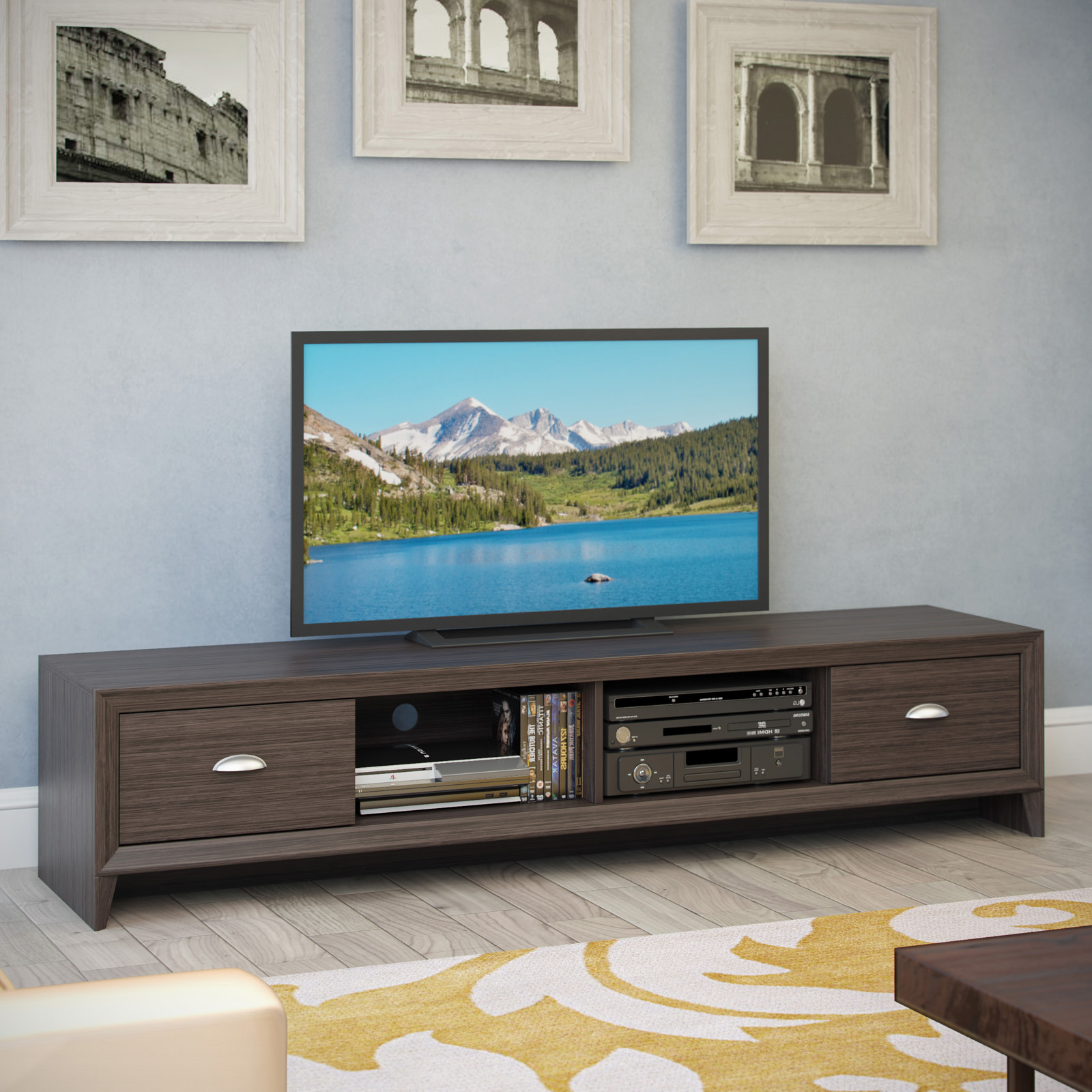 Corliving Tlk 872 B Lakewood Extra Wide Tv Bench – Modern Intended For Copen Wide Tv Stands (View 2 of 20)