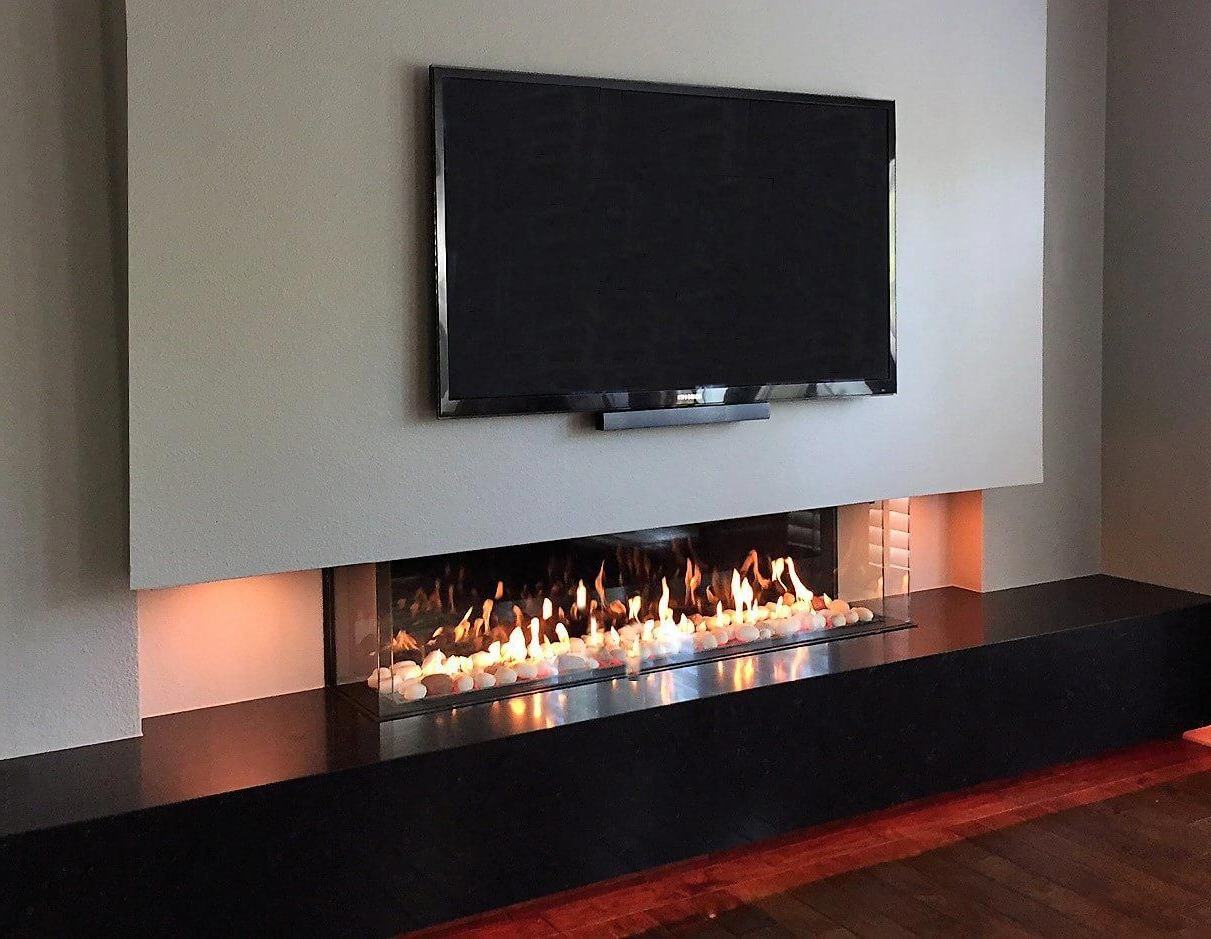 Corner Fireplace With Tv Above #livingroomdesigns | Linear Inside Jackson Corner Tv Stands (View 14 of 20)