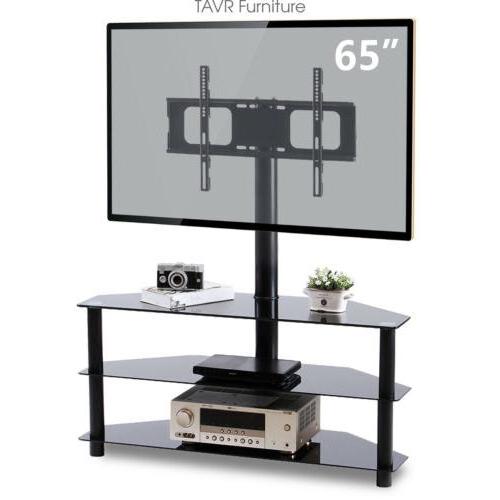 Corner Floor Tv Stand With Swivel Mount In Modern Floor Tv Stands With Swivel Metal Mount (View 7 of 20)