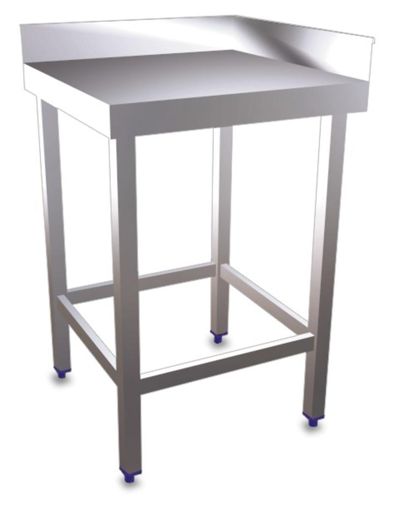 Corner Table Without Shelf – Inox Rvs For Food Industry Intended For Corona Corner Tv Stands (View 17 of 20)
