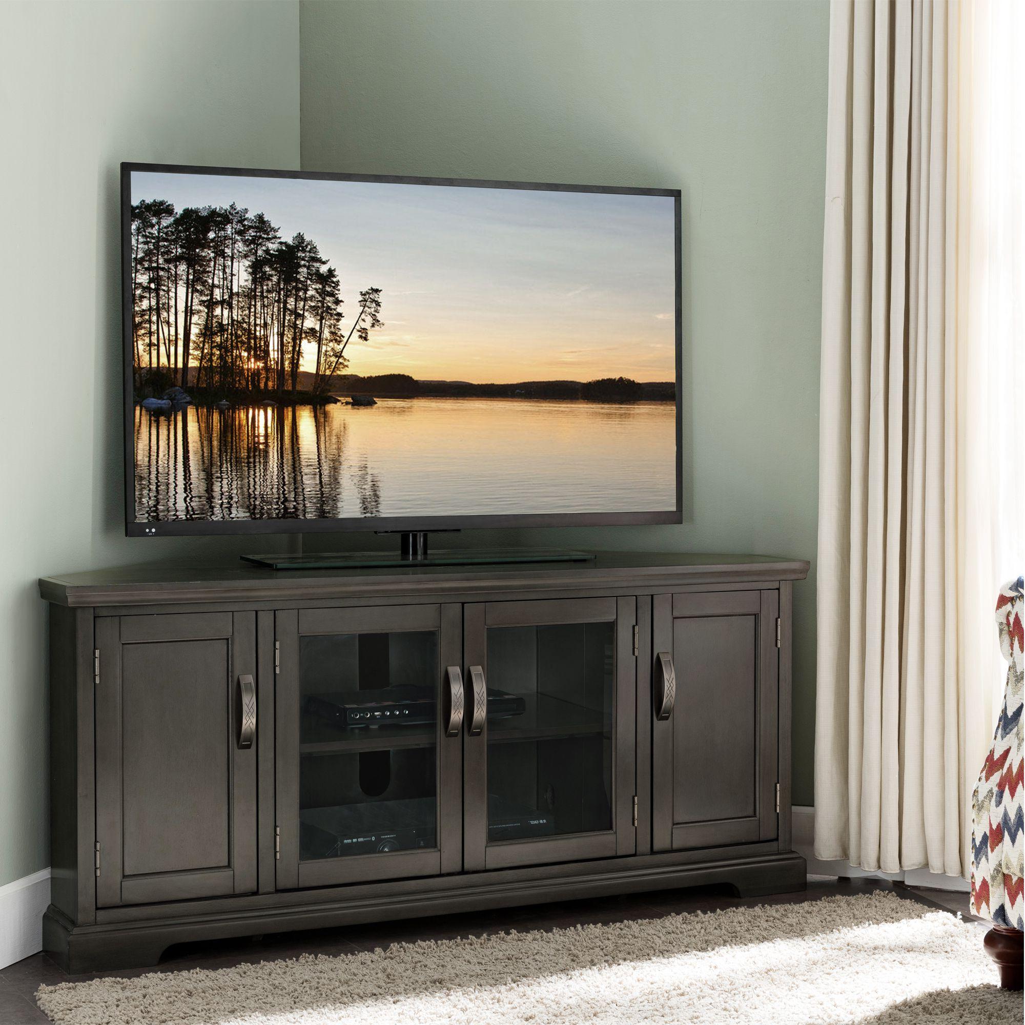 Corner Tv Console, Corner Tv Stands, Corner Entertainment Inside Corner Entertainment Tv Stands (View 3 of 20)