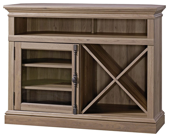 Corner Tv Stand, Cabinet With Glass Door And Removable With Regard To Zena Corner Tv Stands (View 12 of 20)
