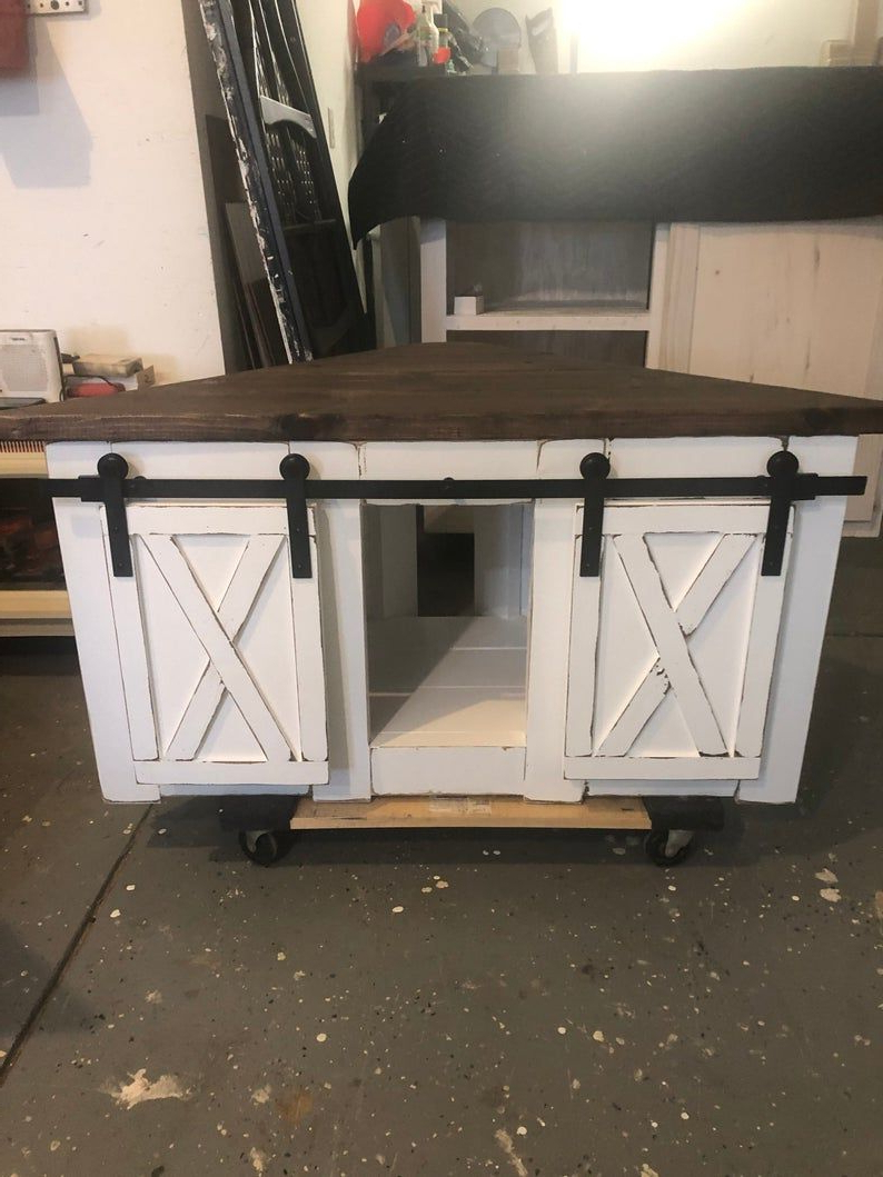 Corner Tv Stand / Farmhouse Style Corner Unit With Barn Pertaining To Avalene Rustic Farmhouse Corner Tv Stands (View 9 of 20)