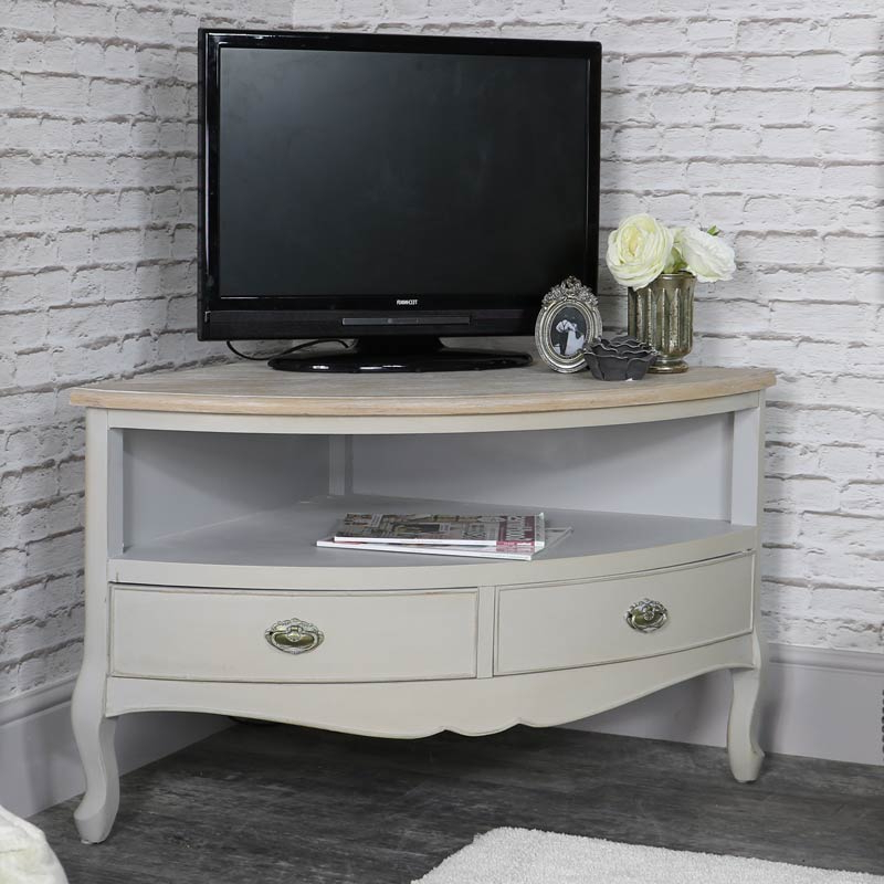 Corner Tv Unit – Albi Range – Melody Maison® With Compton Ivory Corner Tv Stands With Baskets (View 4 of 20)