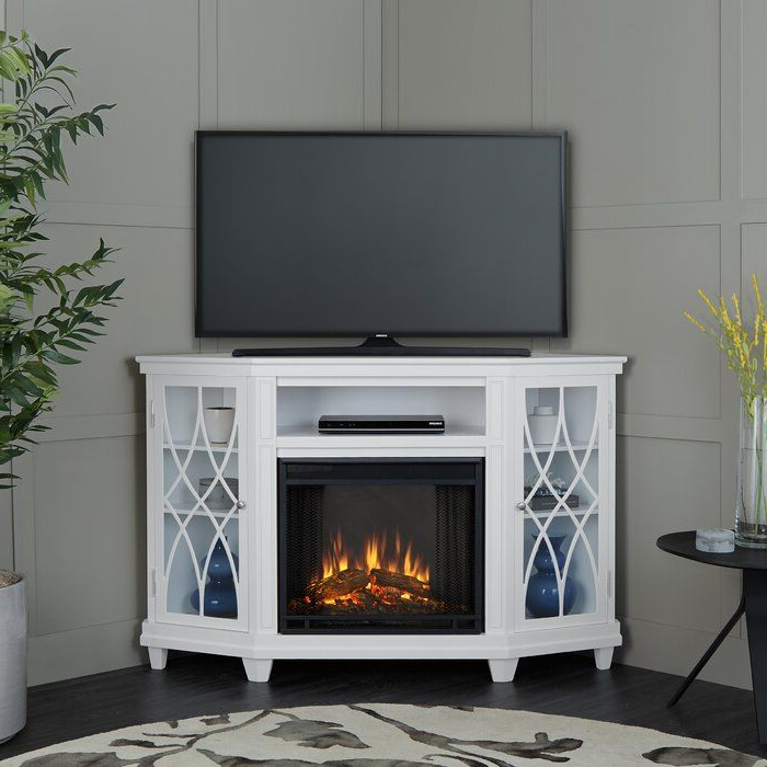 """Corner Unit Tv Stand For Tvs Up To 60"""" With Electric Intended For Camden Corner Tv Stands For Tvs Up To 60"""" (View 17 of 20)"""