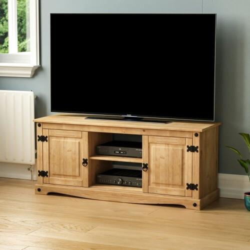 Corona 2 Door 1 Shelf Flat Screen Tv Unit Stand Cabinet Intended For Corona Grey Flat Screen Tv Unit Stands (View 11 of 20)