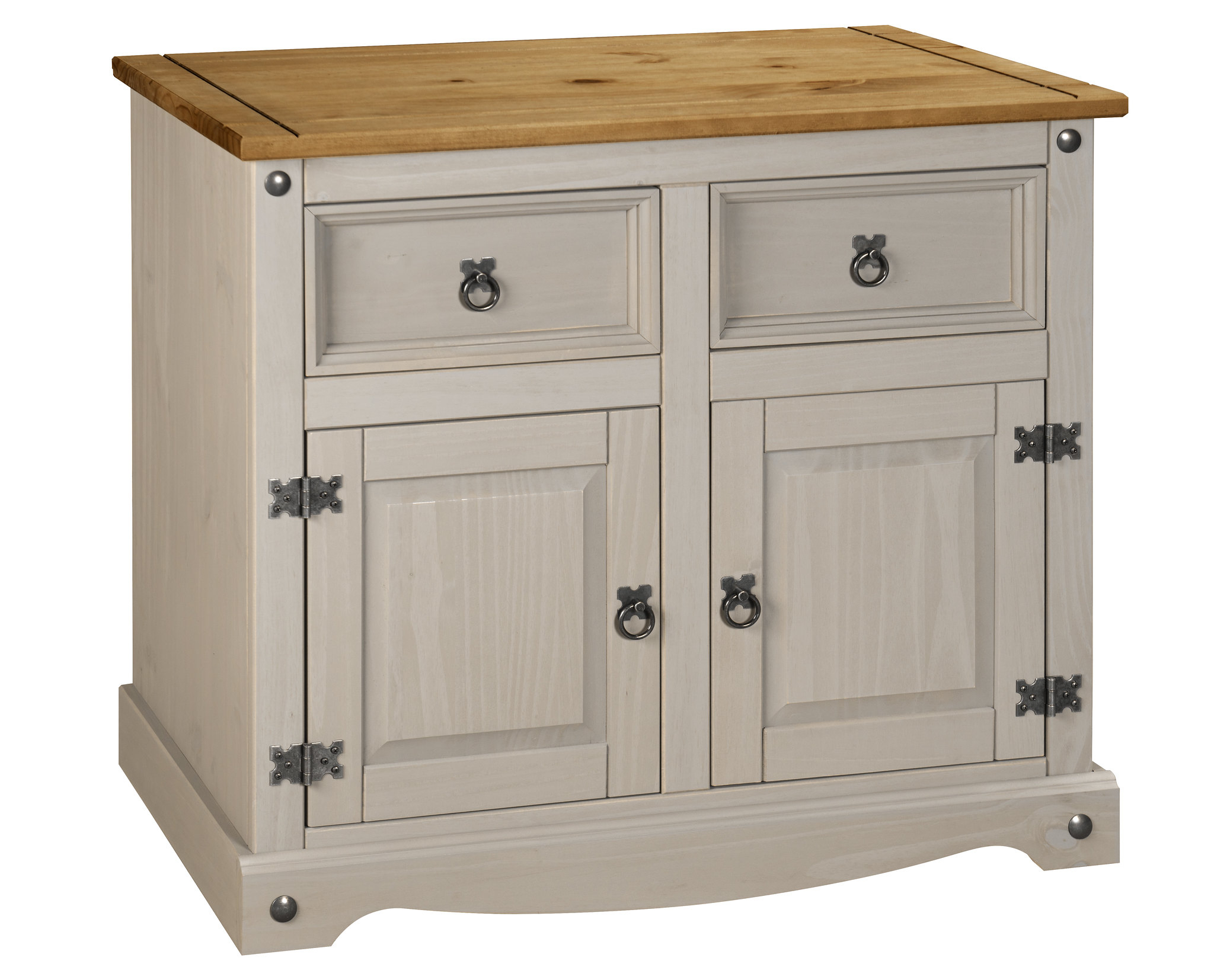 Corona Grey 2 Door 2 Drawer Small Sideboard Cupboard Pertaining To Corona Small Tv Stands (View 17 of 20)