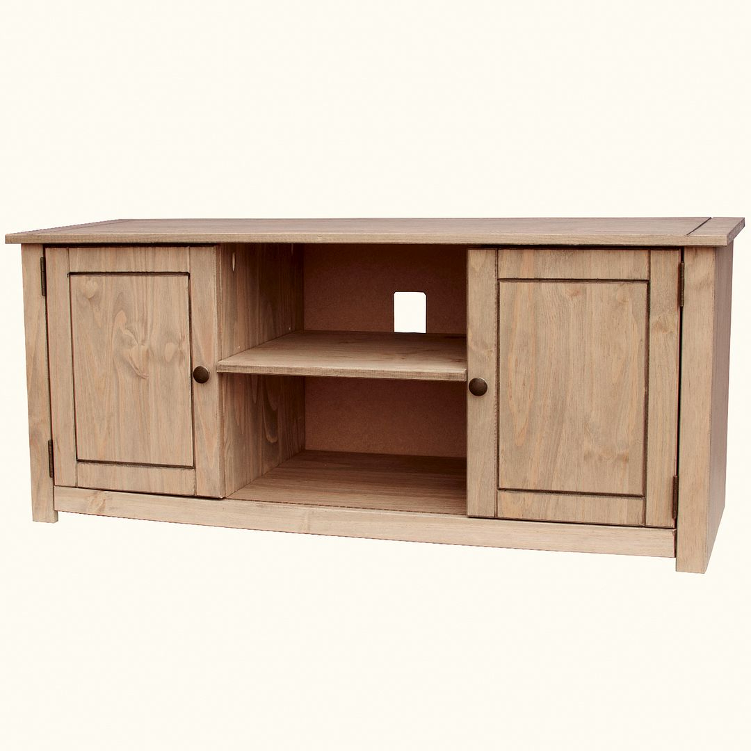 Corona Panama Tv Cabinet Media Dvd Unit Solid Pine Wood In Panama Tv Stands (View 8 of 20)