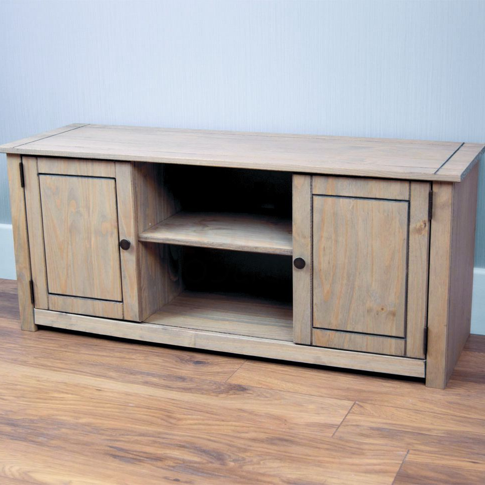 Corona Panama Tv Cabinet Media Dvd Unit Solid Pine Wood Intended For Panama Tv Stands (View 7 of 20)