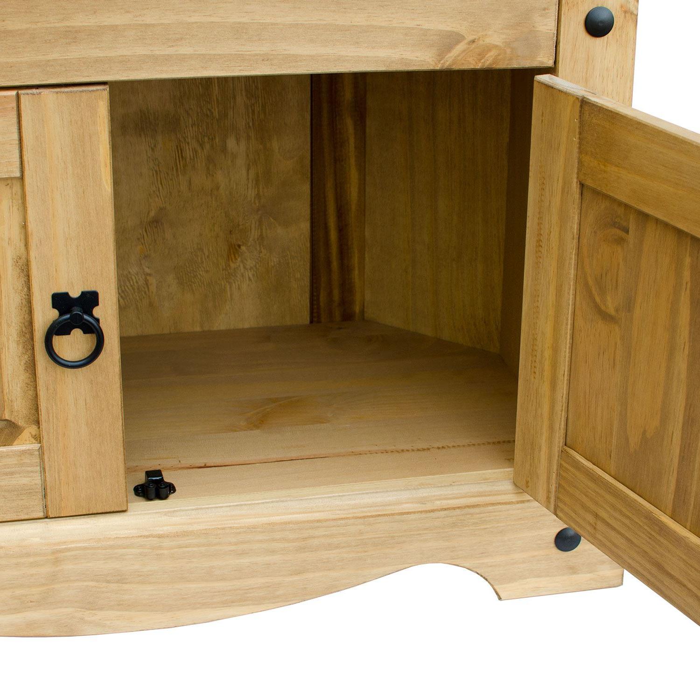 Corona Panama Tv Cabinet Media Dvd Unit Solid Pine Wood Regarding Panama Tv Stands (View 18 of 20)