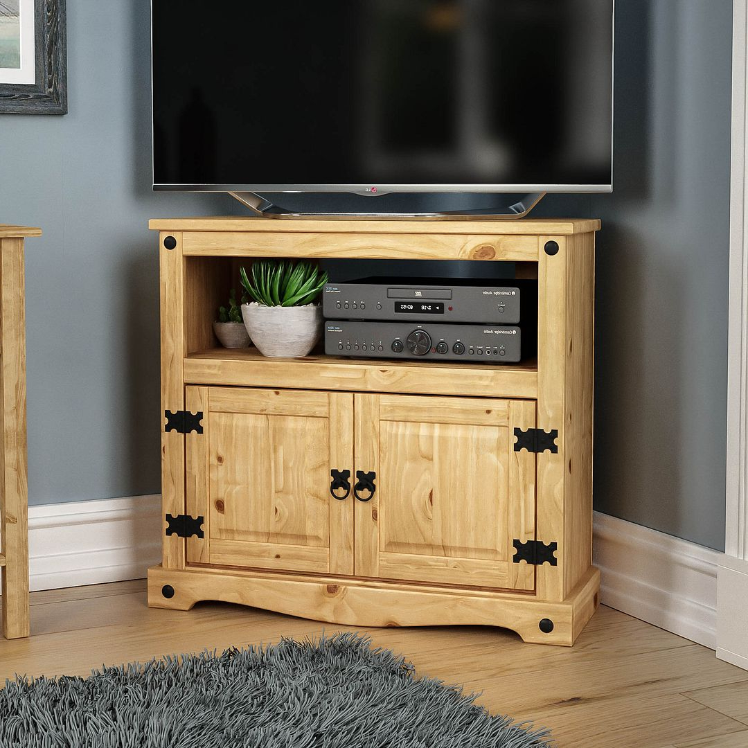 Corona Panama Tv Cabinet Media Dvd Unit Solid Pine Wood With Panama Tv Stands (View 1 of 20)