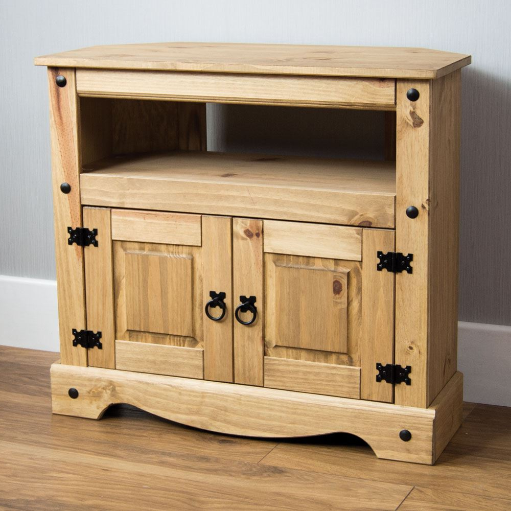 Corona Panama Tv Cabinet Media Dvd Unit Solid Pine Wood With Regard To Panama Tv Stands (View 9 of 20)