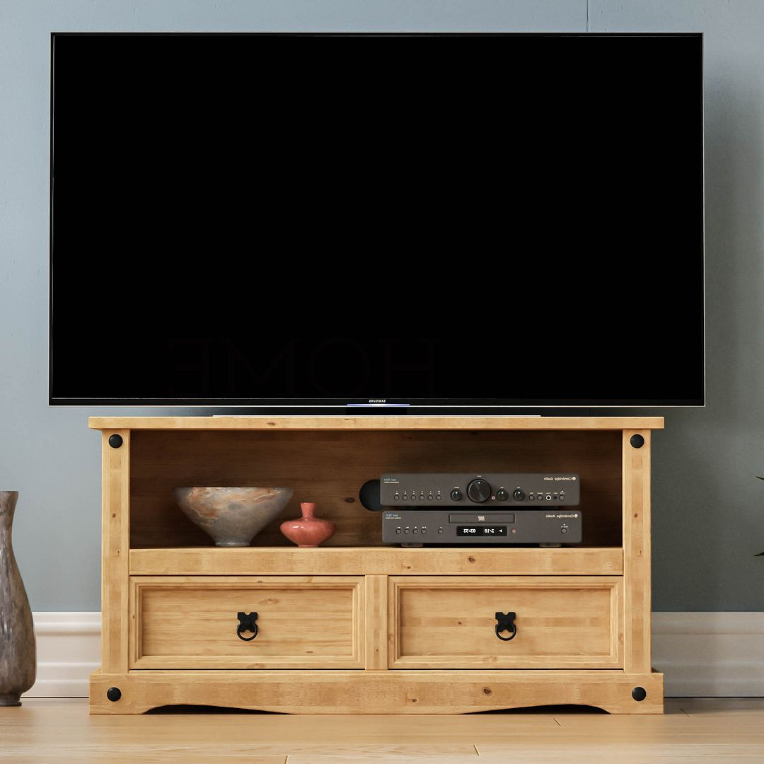 Corona Panama Tv Cabinet Media Dvd Unit Solid Pine Wood Within Panama Tv Stands (View 6 of 20)