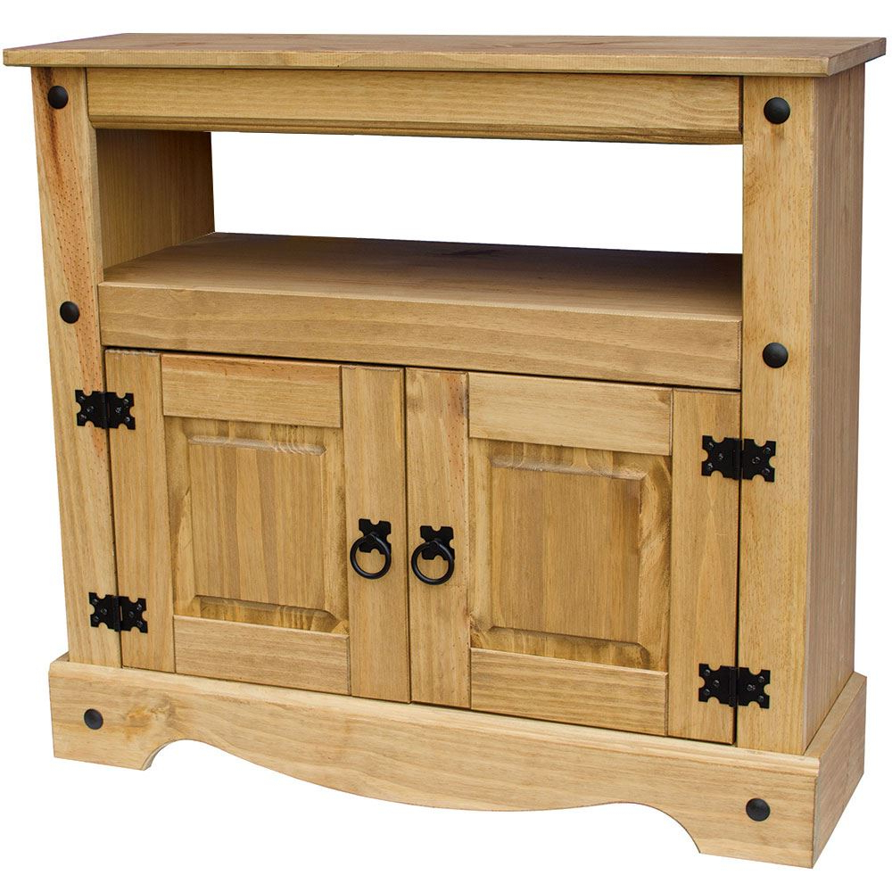 Corona Panama Tv Cabinet Media Dvd Units Wood Solid Pine In Panama Tv Stands (View 3 of 20)
