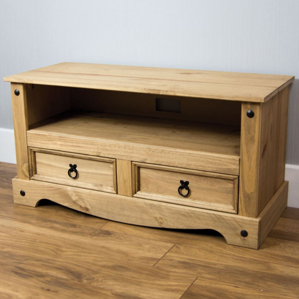 Corona Panama Tv Cabinet Media Dvd Units Wood Solid Pine With Panama Tv Stands (View 2 of 20)