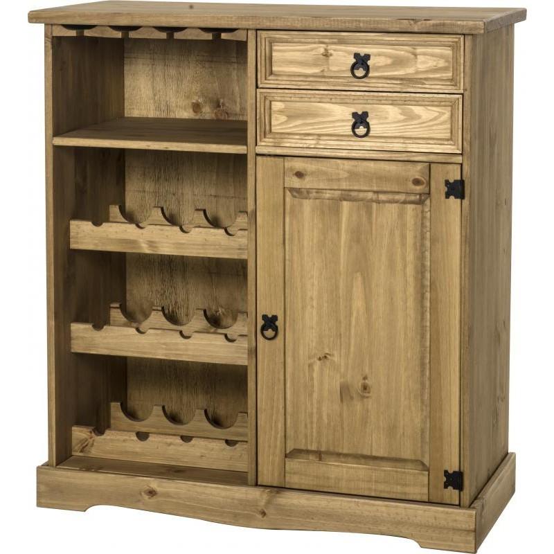 Corona Sideboard/wine Rack Unit  Brixton Beds Throughout Corona Corner Tv Stands (View 10 of 20)