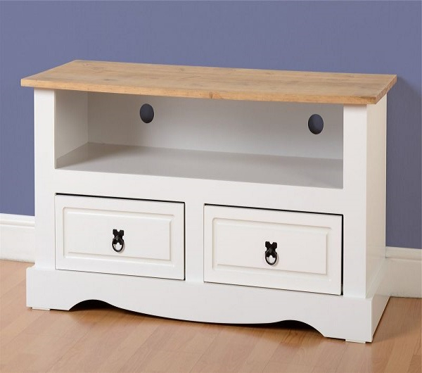 Corona White Tv Unit – 2 Drawers   Living Furniture   Fads Pertaining To Corona Grey Corner Tv Stands (View 7 of 20)