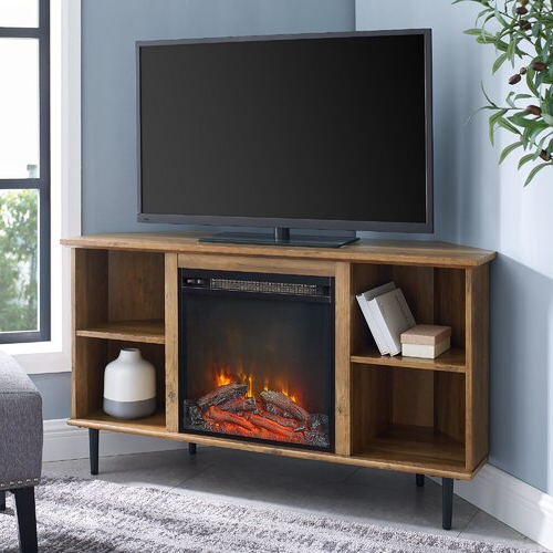 """Corrigan Studio® Echols Tv Stand For Tvs Up To 55"""" With Inside Hetton Tv Stands For Tvs Up To 70"""" With Fireplace Included (View 3 of 20)"""