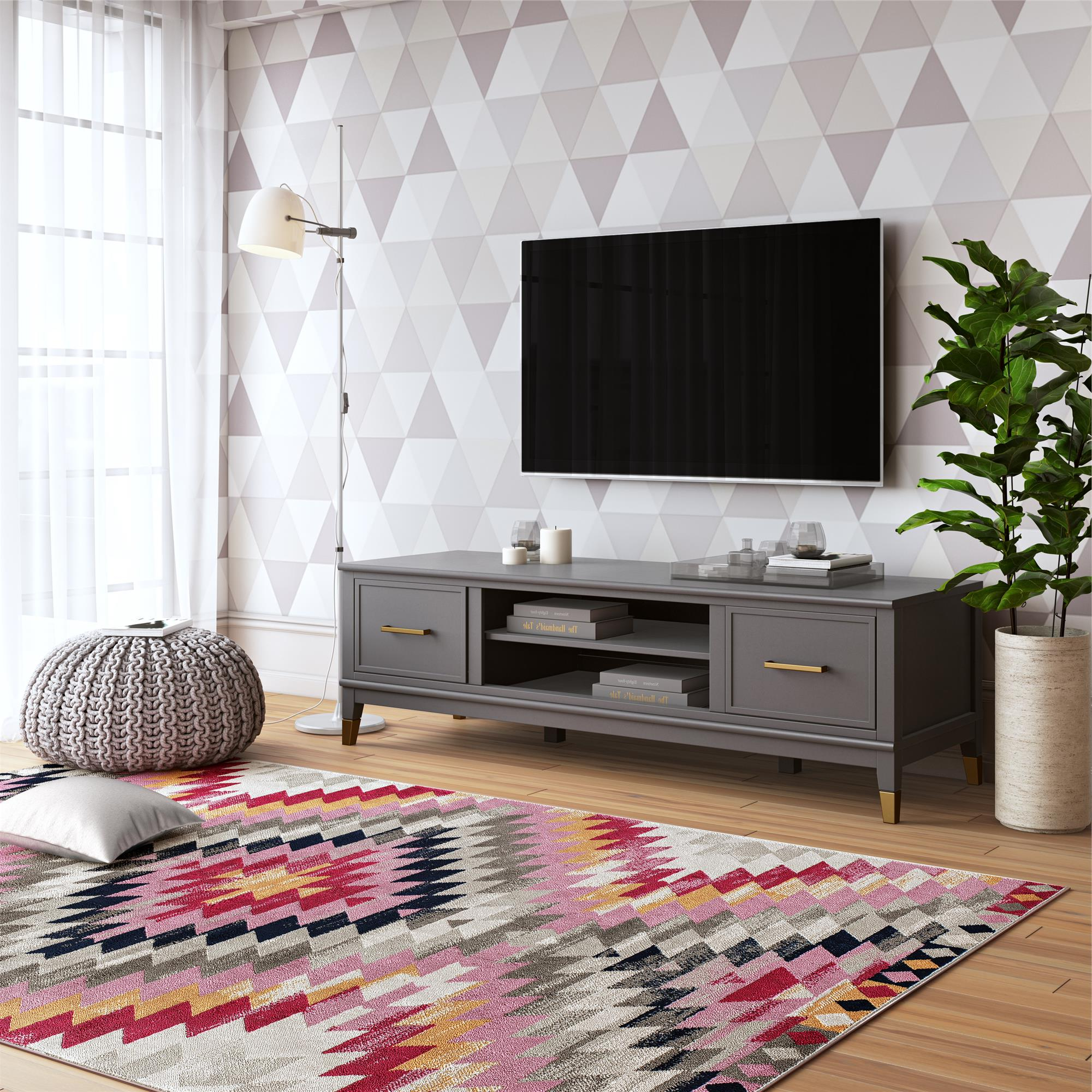 Cosmolivingcosmopolitan Westerleigh Tv Stand For Tvs With Regard To Mainstays Tv Stands For Tvs With Multiple Colors (View 15 of 20)