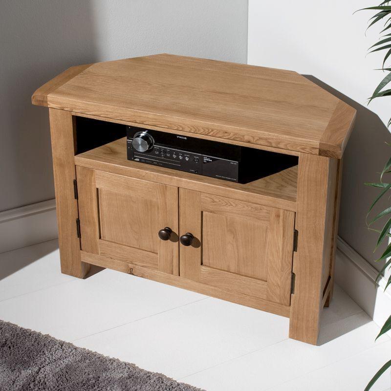 Cotswold Corner Tv Unit Oak 2 Door 1 Shelf – Buy Online At For Cotswold Widescreen Tv Unit Stands (View 2 of 20)