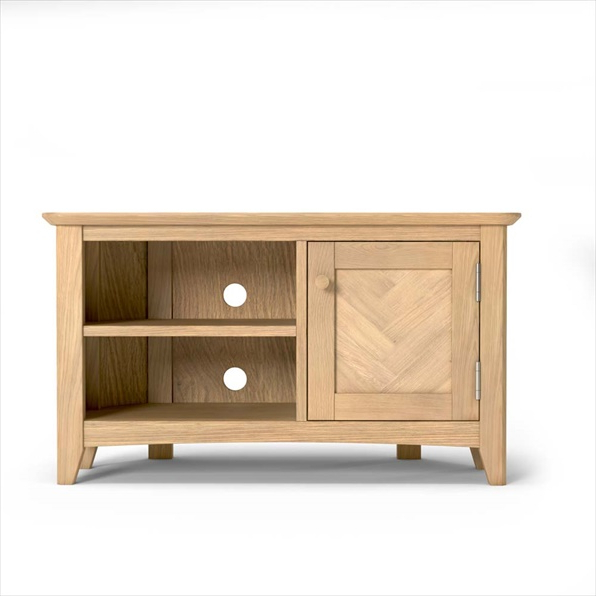 Cotswold Oak Corner Tv Unit Buy Online For Cotswold Widescreen Tv Unit Stands (View 7 of 20)