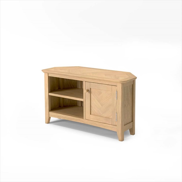 Cotswold Oak Corner Tv Unit Buy Online Throughout Cotswold Widescreen Tv Unit Stands (View 10 of 20)