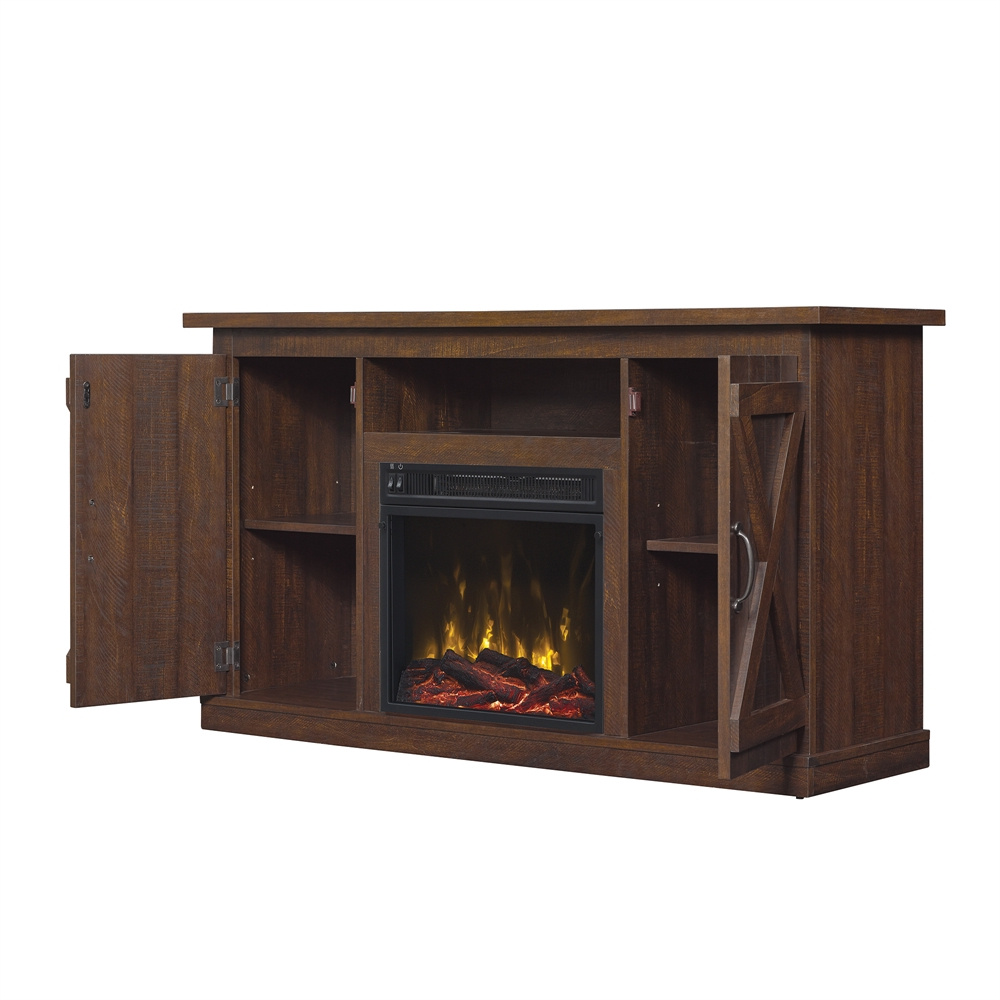 """Cottonwood Tv Stand For Tvs Up To 55"""" With Electric Pertaining To Modern Black Floor Glass Tv Stands For Tvs Up To 70 Inch (View 4 of 20)"""