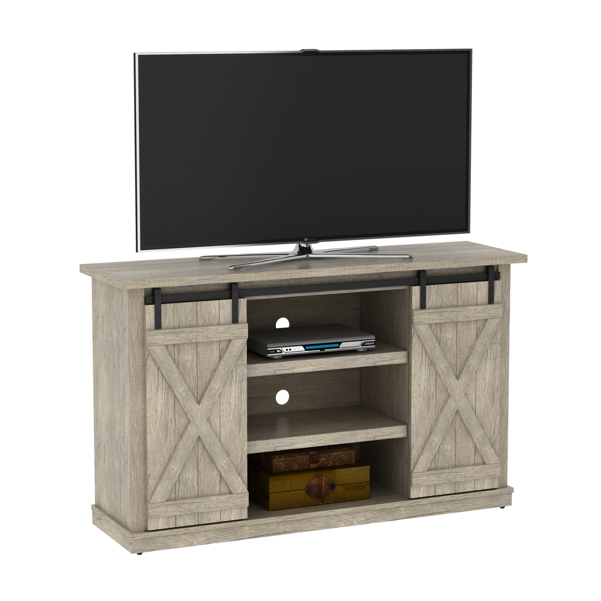 Cottonwood Tv Stand For Tvs Up To 60 Inches With Sliding For Farmhouse Sliding Barn Door Tv Stands For 70 Inch Flat Screen (View 7 of 20)