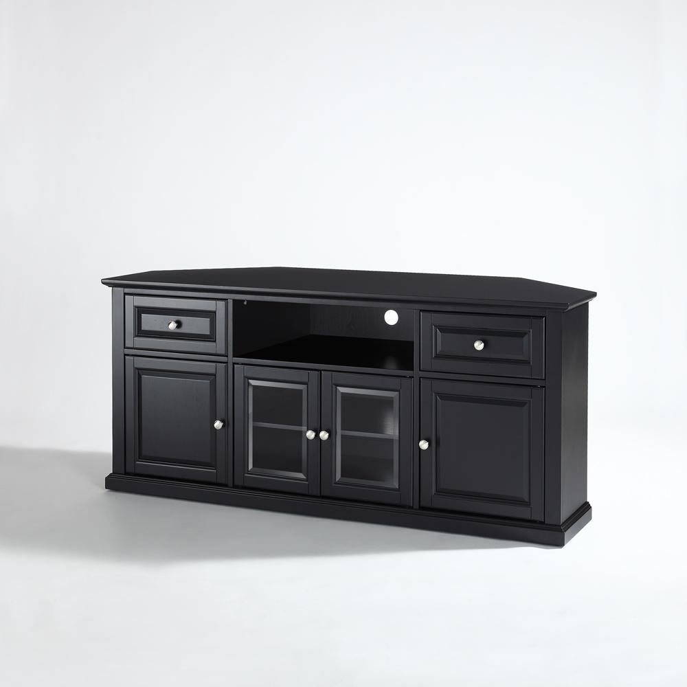 "Crosley Furniture – 60"" Corner Tv Stand In Black For Edgeware Black Tv Stands (View 17 of 20)"
