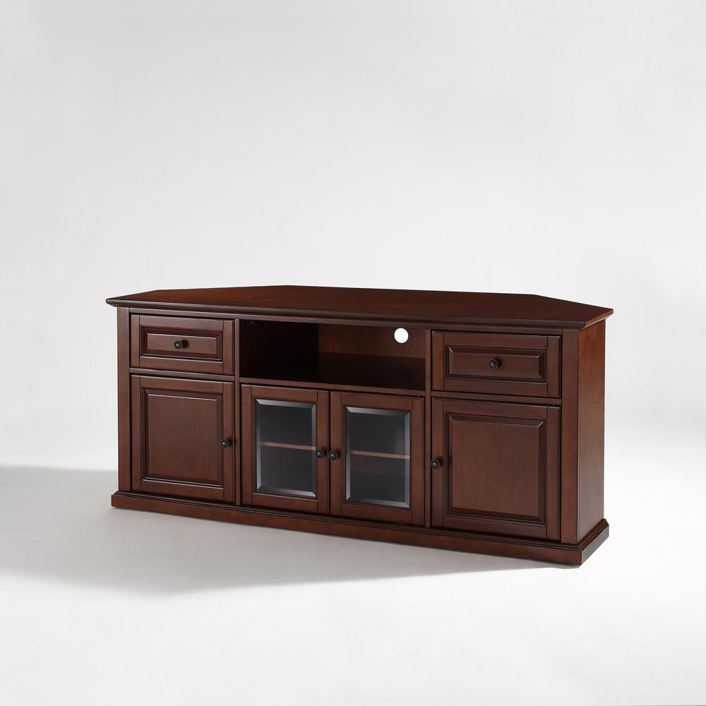 """Crosley Furniture – 60"""" Corner Tv Stand In Vintage Regarding Priya Corner Tv Stands (View 8 of 20)"""