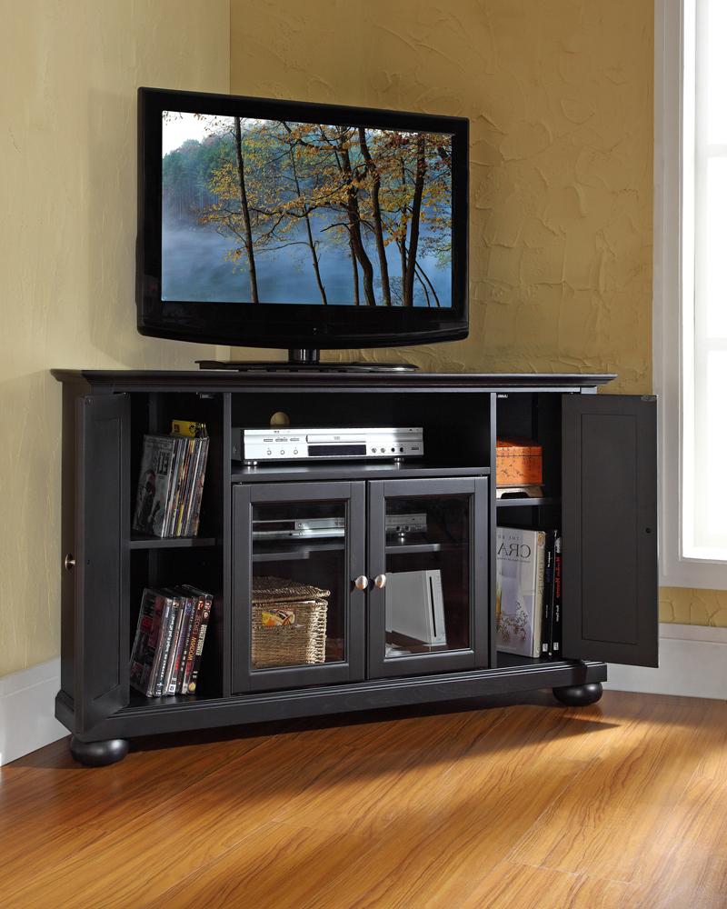 "Crosley Furniture – Alexandria 48"" Corner Tv Stand In For Edgeware Black Tv Stands (View 8 of 20)"