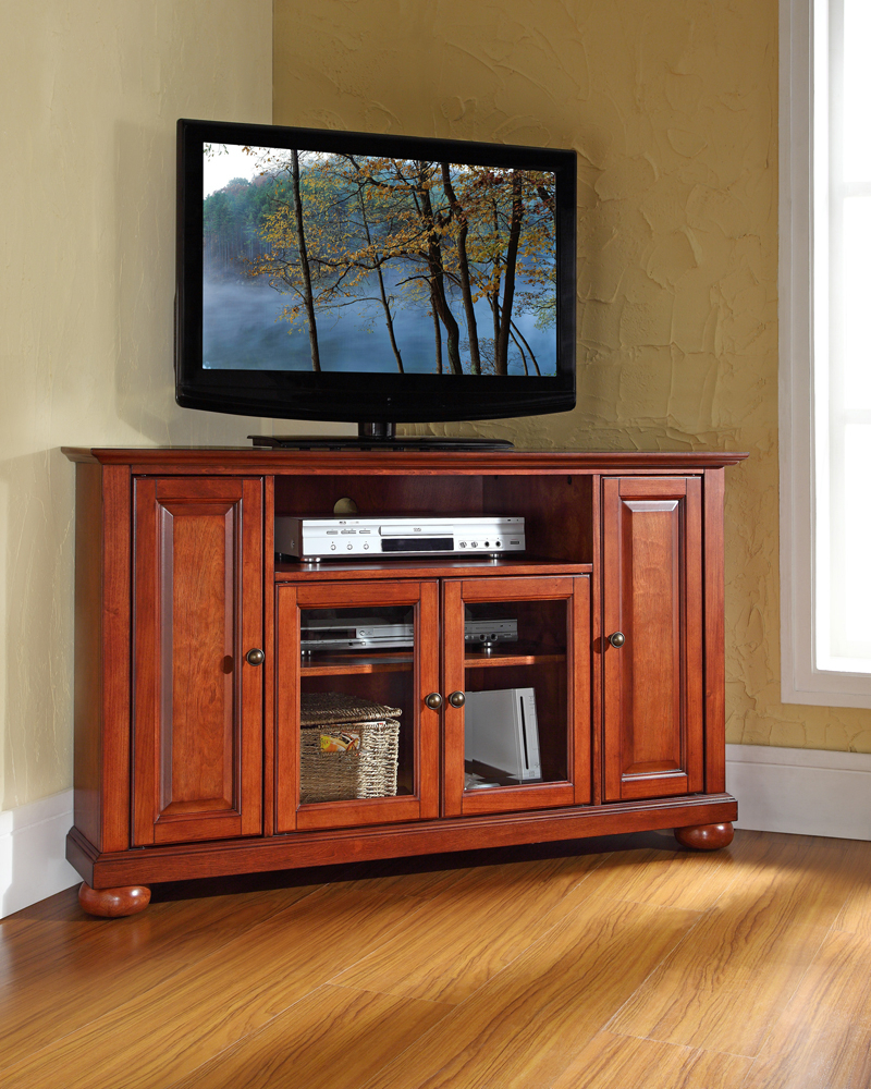 "Crosley Furniture – Alexandria 48"" Corner Tv Stand In For Hex Corner Tv Stands (View 2 of 20)"