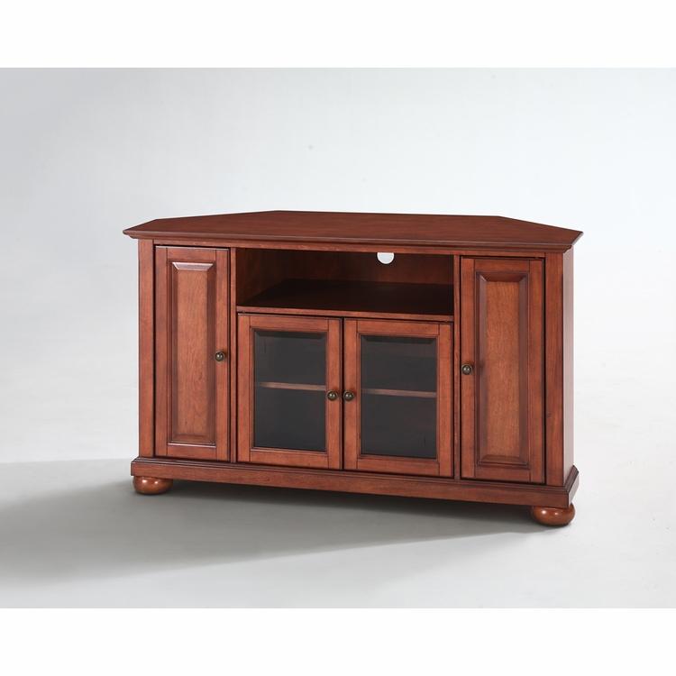 "Crosley Furniture – Alexandria 48"" Corner Tv Stand In Throughout Alexandria Corner Tv Stands For Tvs Up To 48"" Mahogany (View 16 of 20)"