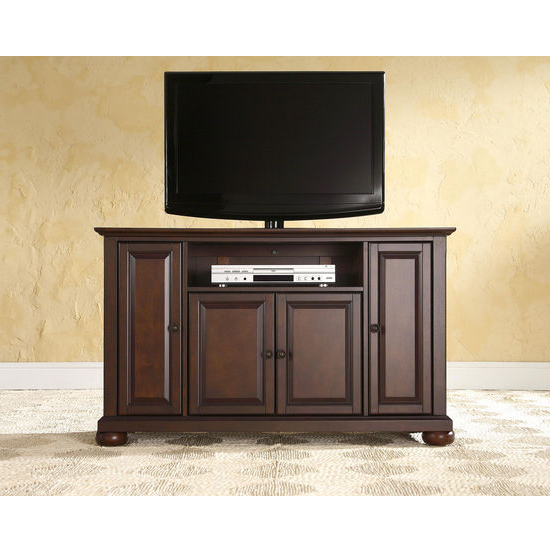 """Crosley Furniture Alexandria 48'' Tv Stand In Black Within Alexandria Corner Tv Stands For Tvs Up To 48"""" Mahogany (View 9 of 20)"""