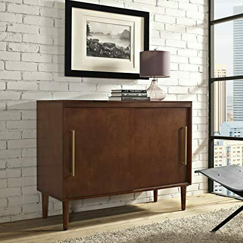Crosley Furniture Cambridge 60 Inch Low Profile Tv Stand Pertaining To Shelby Corner Tv Stands (View 6 of 20)