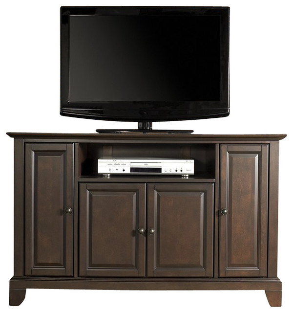 """Crosley Furniture Newport 48"""" Tv Stand In Vintage Mahogany For Corner Tv Stands For Tvs Up To 48"""" Mahogany (View 17 of 20)"""