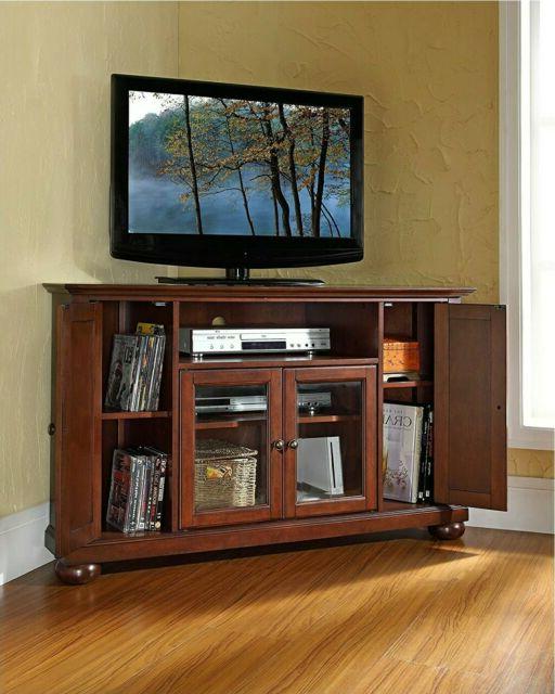 "Crosley Furniture Vintage Mahogany 60 Inch Corner Tv Stand For 60"" Corner Tv Stands Washed Oak (View 16 of 20)"