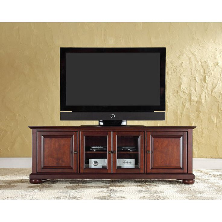 """Crosley Kf10005ama Alexandria 60"""" Low Profile Tv Stand In Alexandria Corner Tv Stands For Tvs Up To 48"""" Mahogany (View 10 of 20)"""