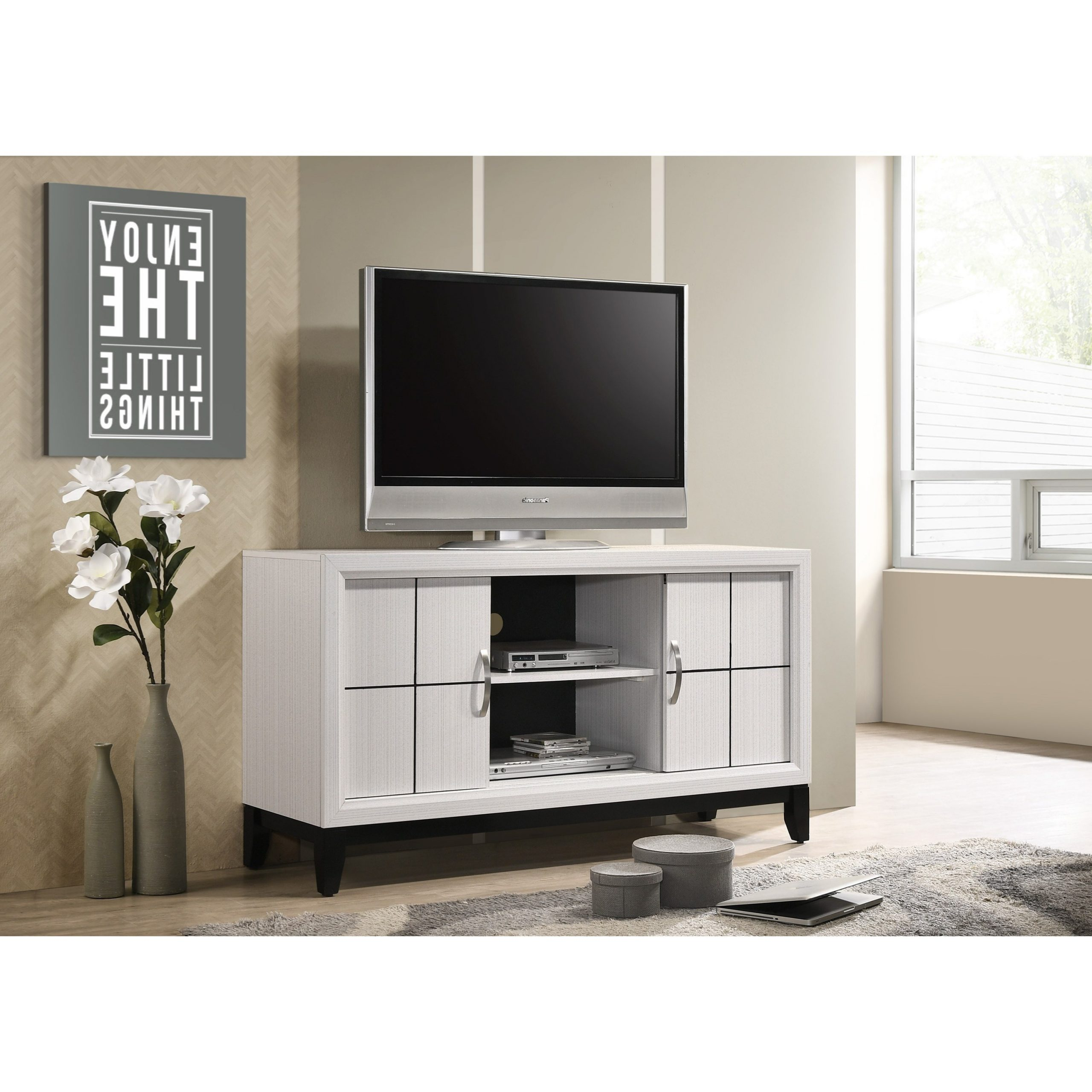 Crown Mark Akerson Contemporary Tv Stand With Wire Throughout Tv Stands With Cable Management (View 8 of 20)
