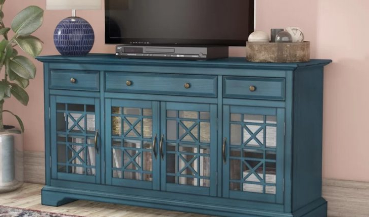"""Daisi Tv Stand For Tvs Up To 60″mistana Review Pertaining To Lorraine Tv Stands For Tvs Up To 60"""" (View 16 of 20)"""