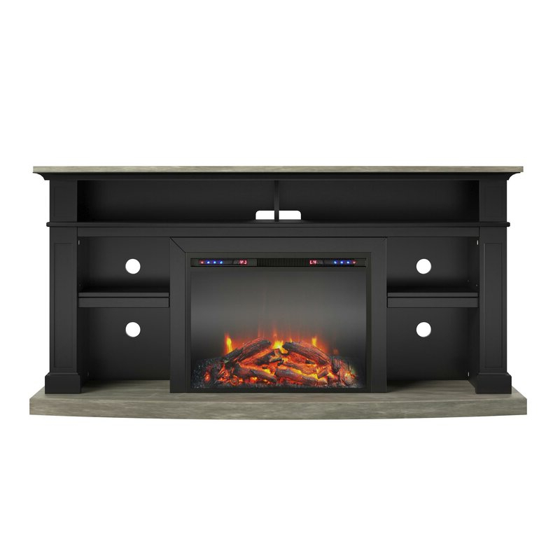 """Darby Home Co Georgie Tv Stand For Tvs Up To 65"""" With Regarding Rickard Tv Stands For Tvs Up To 65"""" With Fireplace Included (View 18 of 20)"""