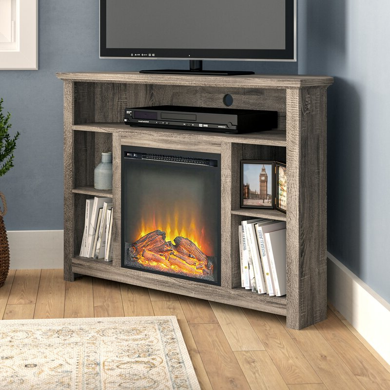 """Darby Home Co Senecaville Corner Tv Stand For Tvs Up To 48 Inside Lionel Corner Tv Stands For Tvs Up To 48"""" (View 11 of 20)"""
