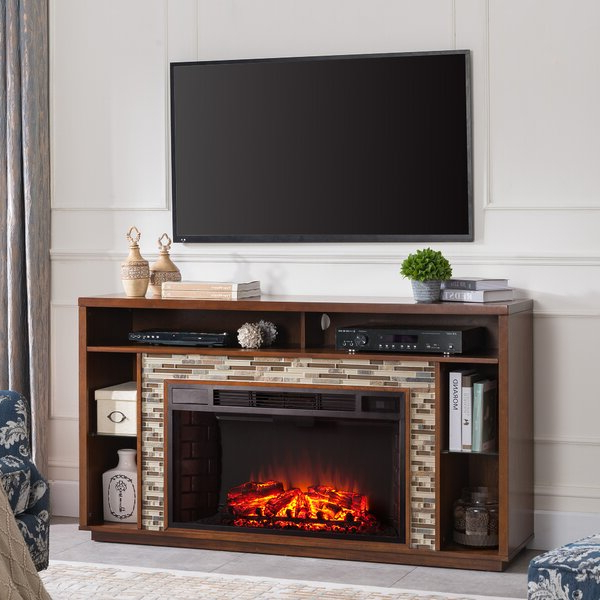 """Darby Home Co Trivette Tv Stand For Tvs Up To 65"""" With Throughout Rickard Tv Stands For Tvs Up To 65"""" With Fireplace Included (View 11 of 20)"""