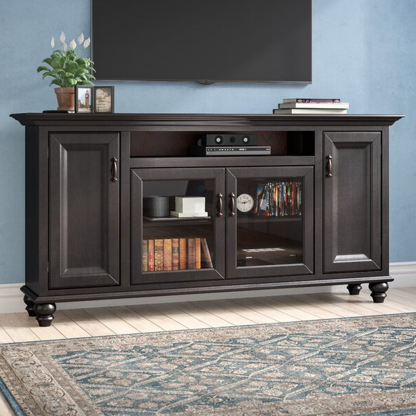 """Darby Home Co Velarde Solid Wood Tv Stand For Tvs Up To 88 Regarding Gosnold Tv Stands For Tvs Up To 88"""" (View 6 of 20)"""