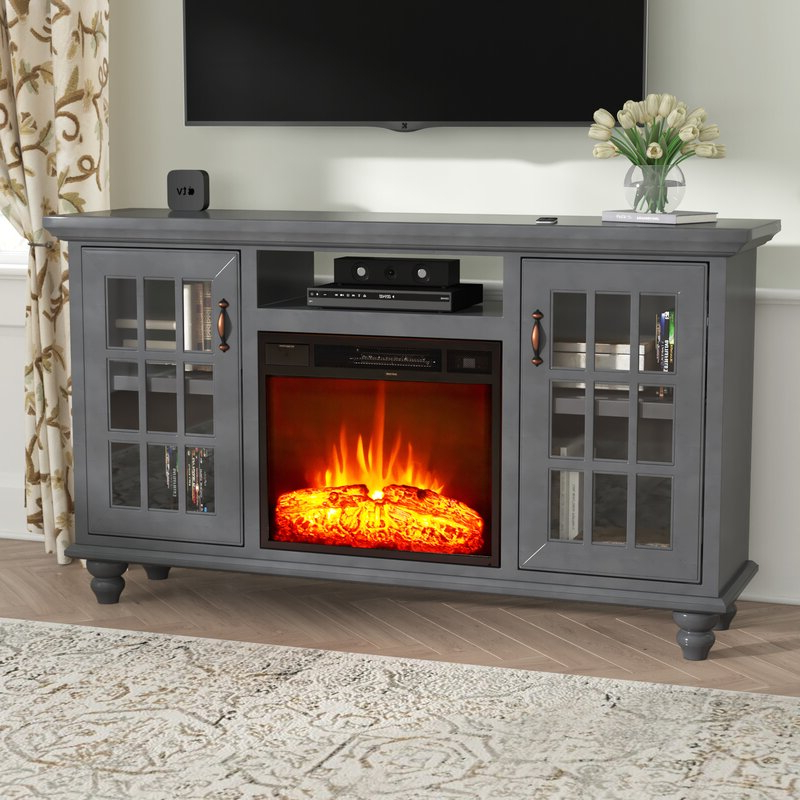 """Darby Home Co Williford Solid Wood Tv Stand For Tvs Up To With Regard To Hetton Tv Stands For Tvs Up To 70"""" With Fireplace Included (View 13 of 20)"""