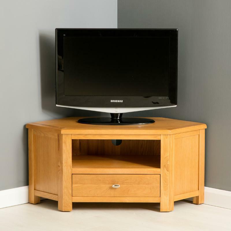 Design 20 Of Small Wooden Corner Tv Cabinets In Samira Corner Tv Unit Stands (View 2 of 20)