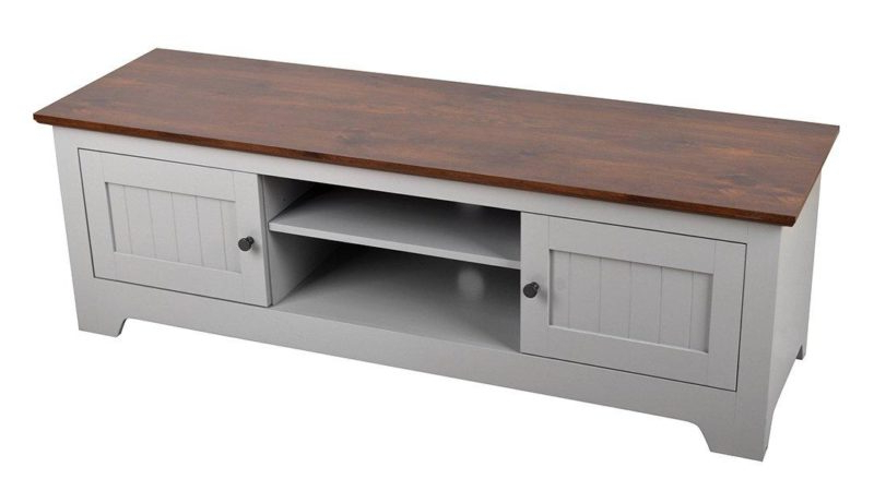 Devon Tv Stand – Ivory/walnut & Grey/walnut – The Furniture Co Inside Compton Ivory Extra Wide Tv Stands (View 4 of 20)